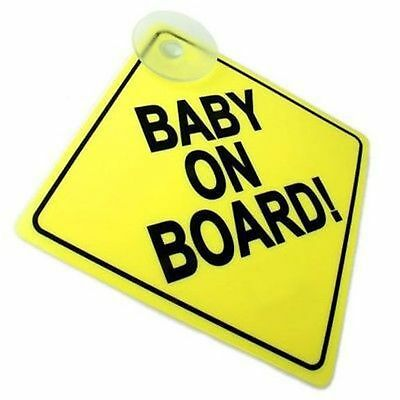 Baby On Board Child Safety Suction Cups Car Vehicle Signs