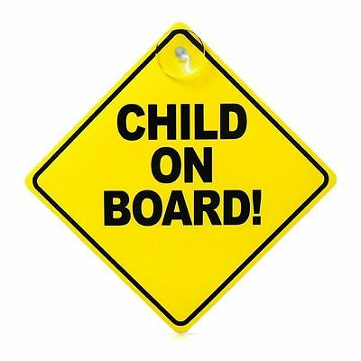 Child On Board Child Safety Suction Cups Car Vehicle Signs Child On Board