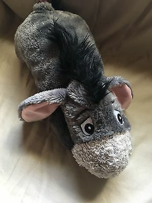 "Vintage Eeyore Disney Store 15"" Donkey Plush with Removable Velcro Tail"
