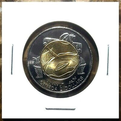Canada 1999 Nunavut Toonie Brilliant Uncirculated BU From Mint Roll!!