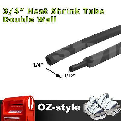 """Polyolefin Heat Shrink Tube Sleeve Crimp Wire Cable Wrap 1/4"""" 6.4mm Tubing 3.5M"""