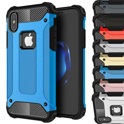 Shockproof Silicone Rubber Hard Case Cover For Apple iPhone X 8 7 6s 6 Plus 5 SE