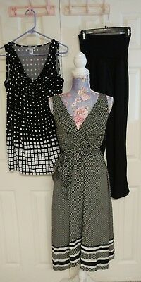 Lot of 3 NWT Maternity Women's Clothes Top Dress Pants Size S/M Motherhood