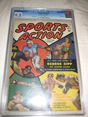 Sports Action (1950) 2 CGC 9.2 Double Cover - 02/1950 George Gipp Notre Dame