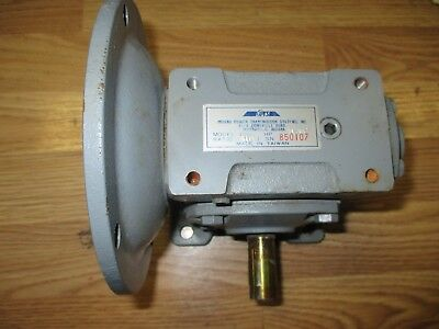 Ipts Indiana Power Worm Gear Speed Reducer Gear Box 10:1 Nos With Mount 1.52 Hp