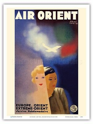 Air Orient - Europe Far East Paul Colin 1933 Vintage Airline Travel Poster Print