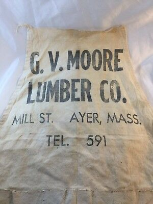 G.V. Lumber Co. MILL STREET TEL. 591 AYER, MA Advertising APRON