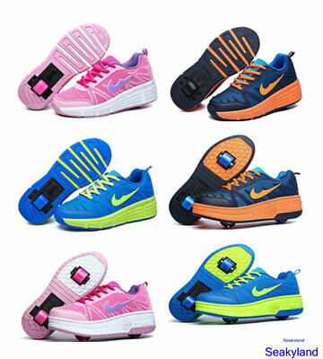 Adults Kids Boy Girl Mesh Roller Shoe Retractable Single/Dual Wheel Shoes Gift