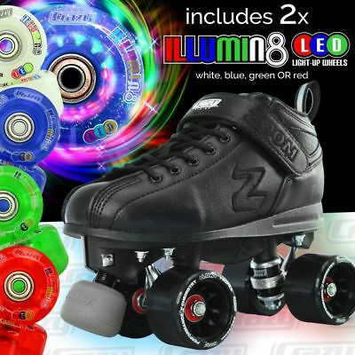 Zoom Speed Skate Quad Roller Skates with 2 LED Colour wheels & ADVENTURE BAG!!!