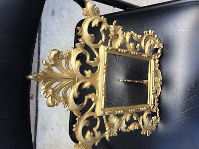 Vintage Victorian Brass Plated Cast Iron  Picture Frame 12'' x 9''