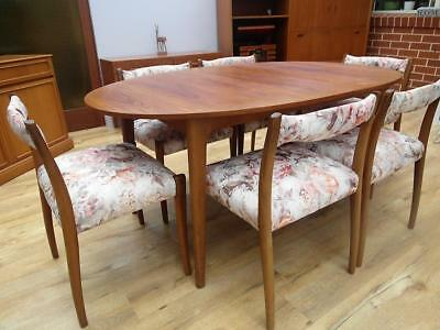 6 x VINTAGE Retro NOBLETT Teak DINING Chairs OTHER Pieces AVAILABLE QZZQ Adelaid