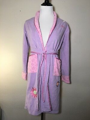 """Disneys Lizzy Mcguire Robe Size Girls L Personalized """"Alexis"""" Embroidered"""