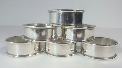 Exceptional 6pc. Antique Sterling Silver Napkin Ring Set by Web Silver Co.