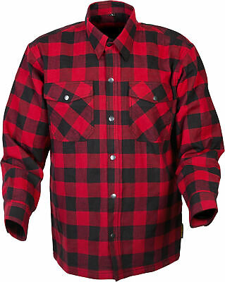 Scorpion Mens Red Black Covert Motorcycle Riding Flannel Shirt Quilt Lined Xlg