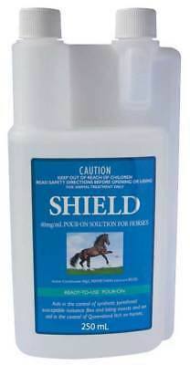 Pharmachem SHIELD Pour-On Buffalo Fly, Midges Repellent for Horse Equine 250ml