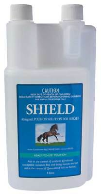 Pharmachem SHIELD Pour-On Buffalo Fly, Midges Repellent for Horse Equine 1 Litre