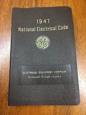 1947 National Electrical Code Book For Wiring And Apparatus No. 70 REDUCED
