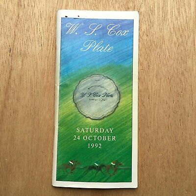 Scarce 1992 W.s.cox Plate Race Book