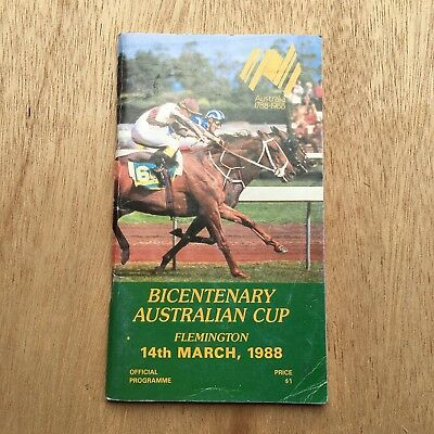 Scarce 1988 Australian Cup Race Book