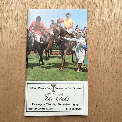 Scarce 1982 Vrc Oaks Race Book