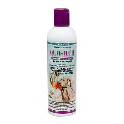 QUIT-ITCH  Antiseptic & Anti-fungal Lotion Treatment for Dog Cats & Horses 250mL