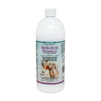 QUIT-ITCH  Antiseptic & Anti-fungal Lotion Treatment for Dog Cats & Horses 1 Lt