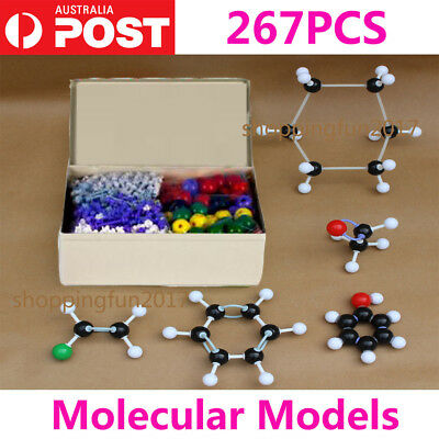 267pcs Molecular Model Set Links Kit - General And Organic Chemistry Science Z