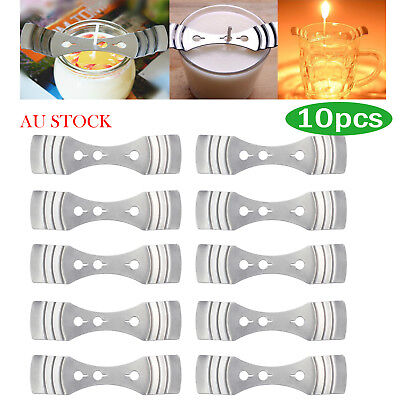 10X Metal Candle Wick Holders Perfect to Center wicks Candle Making Supplies AU