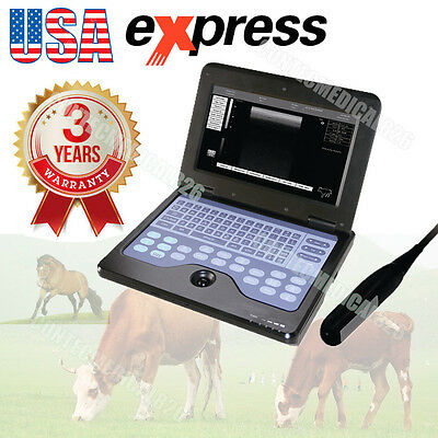 CE CMS600P2 Veterinary Laptop Ultrasound Scanner Rectal Linear Probe COW/Horse,