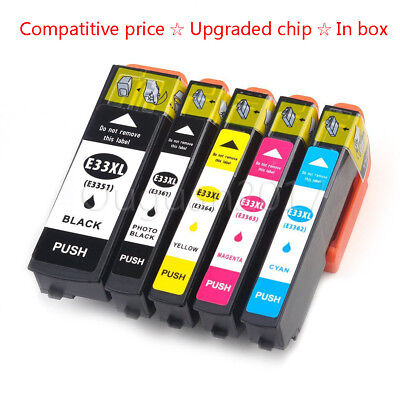 5x Compatible For Epson33 XL Ink for Epson XP-530 XP-630 XP-635 XP-830 Printer