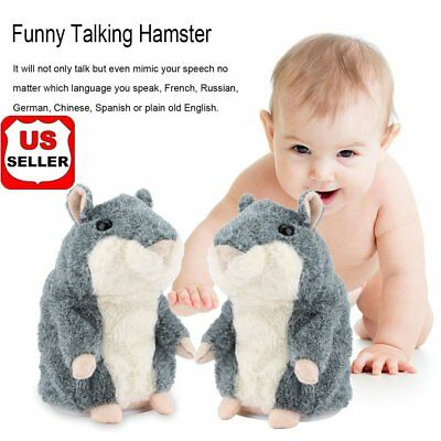 2X Adorable Toy Mimicry Pet Speak Talking Record Hamster Mouse Plush Kids Toy TH
