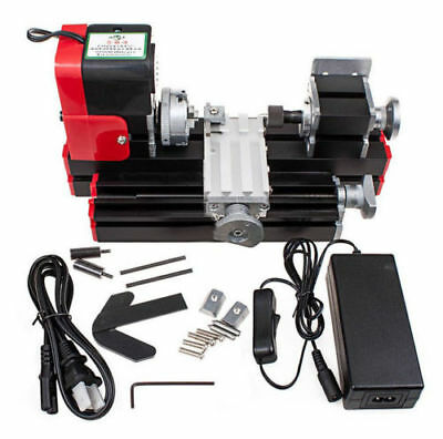 Mini Lathe Machine Metal Motorized 20000rev/min DIY Tool -AU