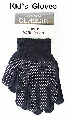 Kids Magic Gloves Winter Warm Boys Girls Stretch Gripper Children Knitted Glove