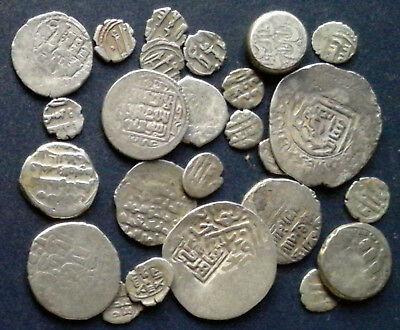 Mixed Lot of 25 Medieval Islamic silver coins