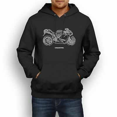 Ducati 1198R Corse Special Edition 2011 Inspired Motorcycle Art Men's Hoodie