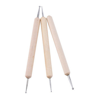 3pcs Clay Sculpting Wax Carving Pottery Tools Shapers Polymer Modeling Craft DIY