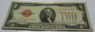 1928 G Two Dollar United States Note Us Currency