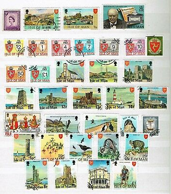 Isle Of Man - Mixed Selection Of Circa 35 Used Stamps (L21)