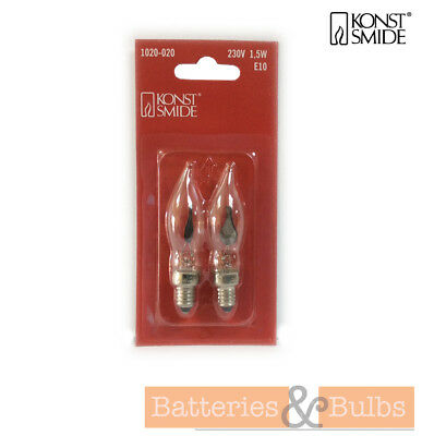 1.5w E10 230v Flicker Flame Christmas Candle Arch Replacement Spare Bulbs x2