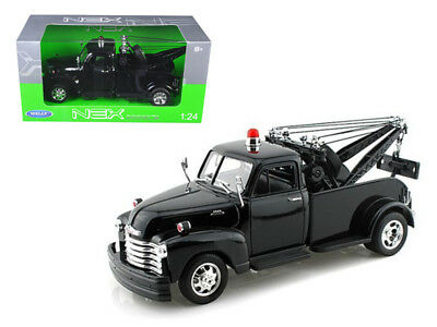 ANAA-22086WMJBKND-1953 Chevrolet 3800 Tow Truck Plain Black 1/24 Diecast Model
