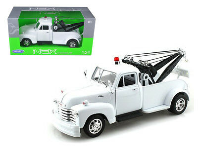 ANAA-22086WMJWHND-1953 Chevrolet 3800 Tow Truck Plain White 1/24 Diecast Model