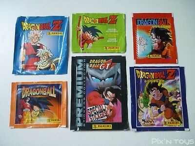 Lot de 6 Pochettes Sachets Autocollant Stickers Dragon Ball Z / Panini [ NEUF ]