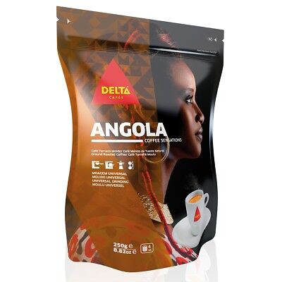 Delta Ground Roasted Coffee from ANGOLA for Espresso Machine or Bag 250g-Tracked