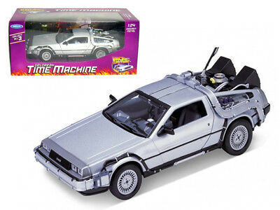 "Welly Delorean From Movie ""Back To The Future 1"" 1/24 Diecast Model Car"