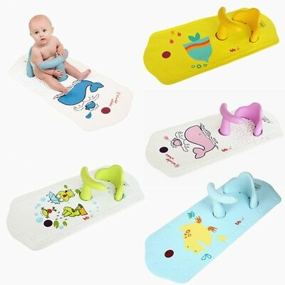 Baby Infant Toddler Kids Safety Bath Seat Chair Non-Slip Mat with Heat Sensitive
