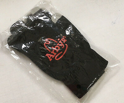 Arby'  promo item black gloves  with red Arby's logo still in original package
