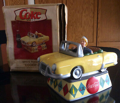 Coca Cola DRIVE REFRESHED (Girl in a Convertible) Cookie Jar 2000