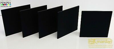 Acrylic Perspex® Matte Black Midnight Frost Cut Sheets - Cut Panels