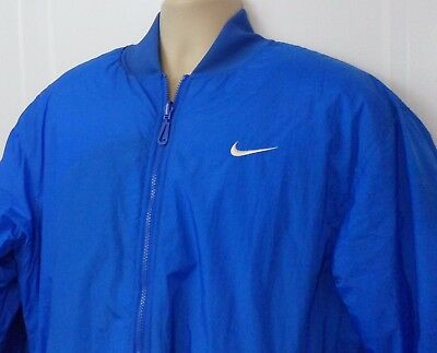 Vintage NIKE SWOOSH Reversible Puffer Jacket Blue Embroidered Size XL 18-20
