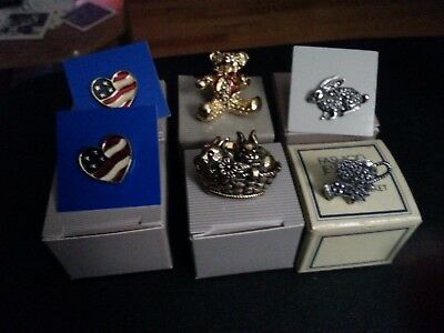 Vintage lot of 6 Avon pins in the original boxes